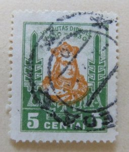 A11P5F62 Litauen Lituanie Lithuania 1930 5c used