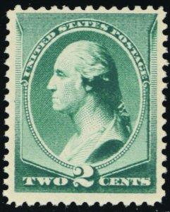 213, Mint VF NH GEM 2¢ Washington Stamp With Certificate - Stuart Katz