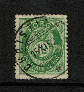Norway SC# 26, Used, page/hinge remnant - S9206
