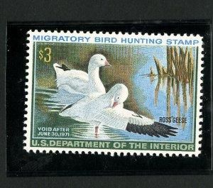 US Stamps # RW37 XF OG NH