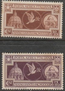 Italy CB1-CB2, HOLY YEAR, SET OF TWO. MINT, NH, LITTLE FOXING. VF. (151)
