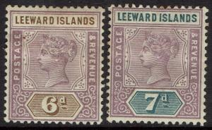 LEEWARD ISLANDS 1890 QV TABLET 6D AND 7D