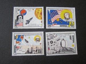 Senegal 1992 Sc 1036-9 space set MNH