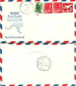 United States, First Flight, New York, Fiji