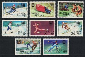 Bhutan Winter Olympic Games Innsbruck 8v SG#337-344