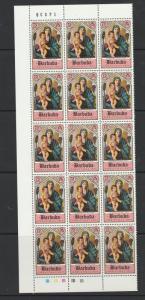 Barbuda 1971 Xmas 12 sets UM SG 98/101