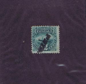 SC# 117 USED 12c PICTORIAL ADRIATIC, 1869, PAID CANCEL, WITH PF CERT LOOK