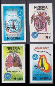 1992 Nigeria 584-87b imperf. / MEDICINE rare