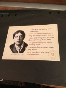 Ireland  Post Card With Quotes Of Wit and Wisdom of Oscar Wilde -VF Unused