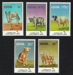 Kenya Donkey Cattle Sheep Dog Cat 5v SG#637-641