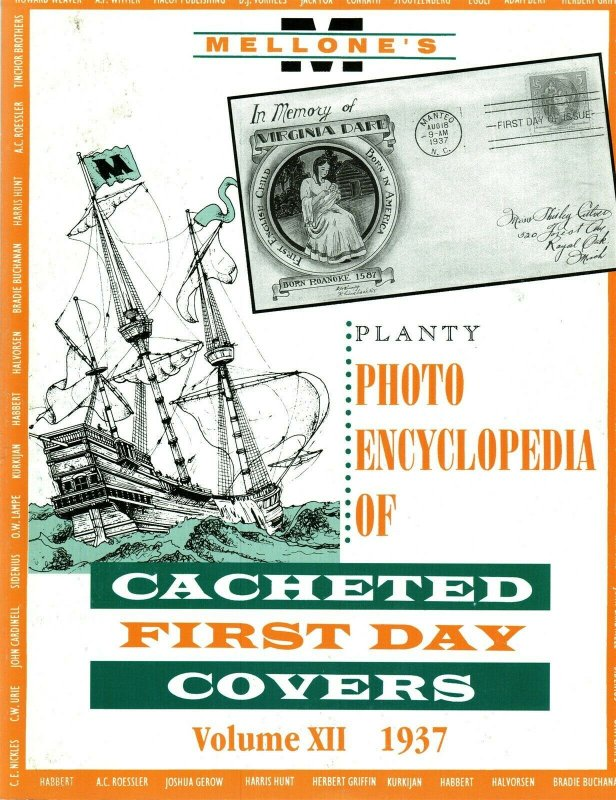 Mellone Planty Photo Encyclopedia First Day Covers 1937 Volume XII Bound