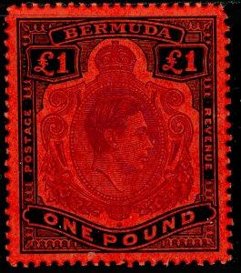 BERMUDA SG121d, £1 violet & black/scarlet, NH MINT. Cat £55.