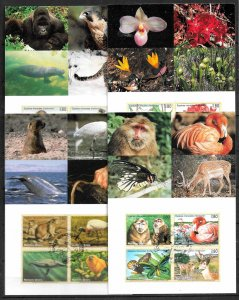 UNITED NATIONS VGENEVA 1994-98 SET OF 4 MAXIMUM CARDS ENDANGERED SPECIES