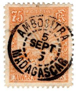 (I.B) Madagascar Postal : Traveller's Tree 75c (Ambositra)