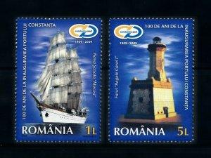 [101160] Romania 2009 Port Constantze ship lighthouse  MNH