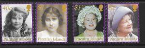 PITCAIRN ISLANDS SG623/6 2002 QUEEN ELIZABETH QUEEN MOTHER MNH