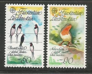 Liechtenstein MNH B29-30 Birds