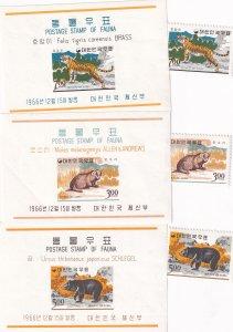 Korea: Sc #502-504 & 502a-504a, MNH (41175)