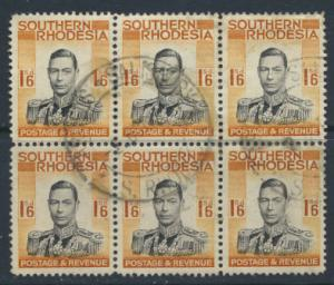 Southern Rhodesia SG 49 SC# 51  Used block of 6 see scan and details