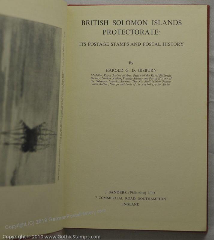 British Solomon Islands Harold Gisburn 45337