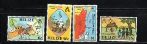 Belize SC370-373 Christmas '73-Musicianss-Drummer- w/MapOfBelize MNH 1975