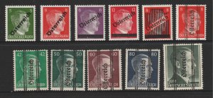 German Occupation of Austria a small mint lot