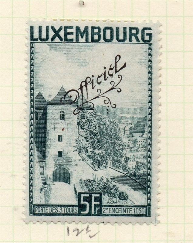 Luxembourg 1934 Early Issue Fine Mint Hinged 5f. Official Optd 253189