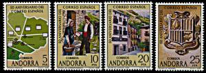 Andorra (Spanish) 102a-d, MNH, 50th anniversary of Spanish Post Office