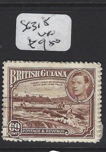BRITISH GUIANA (P2806B) KGVI 60C  SG 315   VFU