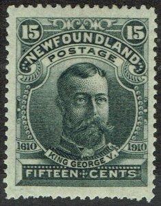 NEWFOUNDLAND 1911 KGV 15C PERF 14