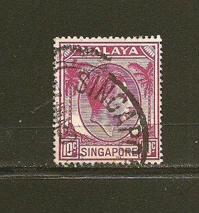 Singapore 9a King George VI Used