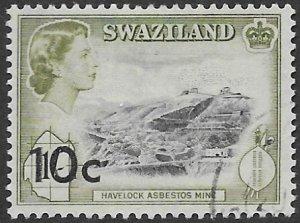 Swaziland 75    1961   10c OP  1sh  fine used