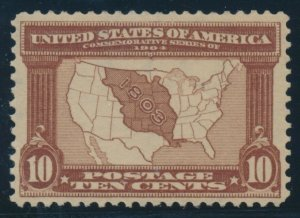 #327 10c LOUISIANA 1904 VF-XF OG NH GEM WITH PF & PSE 85 CERTS BV161