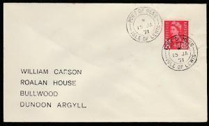 GB SCOTLAND 1971 cover PORT OF NESS / ISLE OF LEWIS  cds...................66706