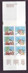 Sweden Sc 1812a 1990 Europa Post Offices stamp bklt pane NH