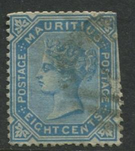 Mauritius - Scott 61 - QV Definitive -1879 - Used - Single 8c Stamp