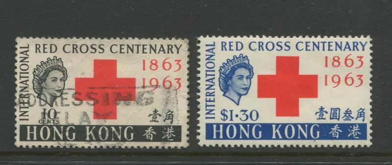 Hong Kong #219-220 MLH/ FU 1963 Set of 2 Stamps