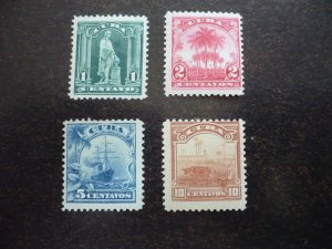Stamps - Cuba - Scott# 233-237 - Mint Hinged Set of 4 Stamps