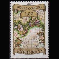 BRAZIL 1972 - Scott# 1240 Old Map 1cr NH
