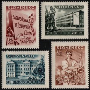 ✔️ SLOVAKIA 1943 - CULTURE MUSEUM - SC. B17/B20 MNH OG [SK128]