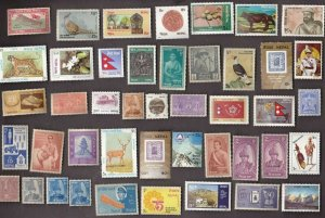 100 All Different  MINT NEPAL STAMPS (lot 2 sj)