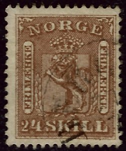 Norway 1863 Sc #10 Used F-VF Cat $125...Great Value!