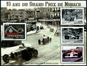 HERRICKSTAMP NEW ISSUES MONACO Sc.# 2969 90 Years Grand Prix Sheetlet