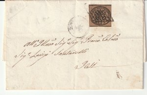 Papal States an 1859 cover with imperf 3 baj