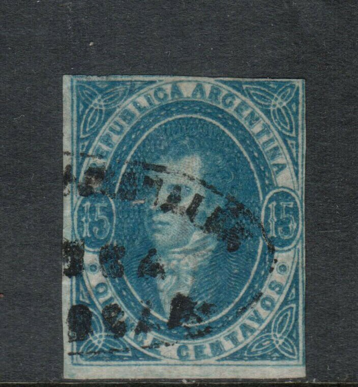 Argentina #10 Used Fine Rare Stamp - Tiny Thin At Upper Left