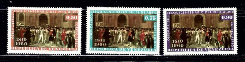 Venezuela C738-40 MNH 1960 set