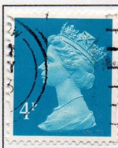 Great Britain Sc MH202 1993 4p prussian blue  QE II  Machin Head stamp used