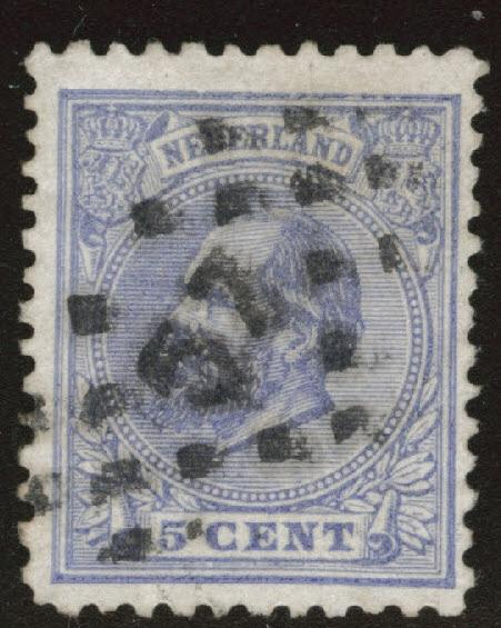 Netherlands Scott 23 used from 1872-1888 set