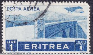 Eritrea C11 USED 1936 Plane Over Bridge