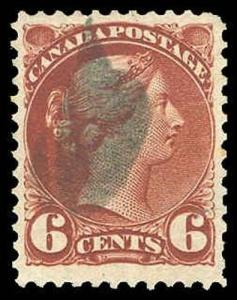CANADA-f-a-1851-1899 ISSUES (TO 88c) 43i  Used (ID # 85178)